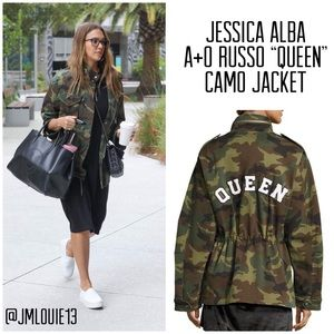 Alice + Olivia Russo Camo Queen Oversized Jacket